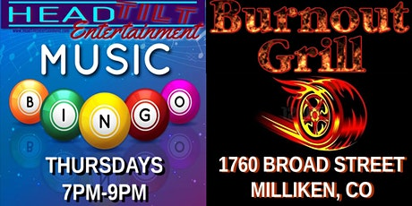 Music Bingo at Burnout Grill - Milliken, CO tickets