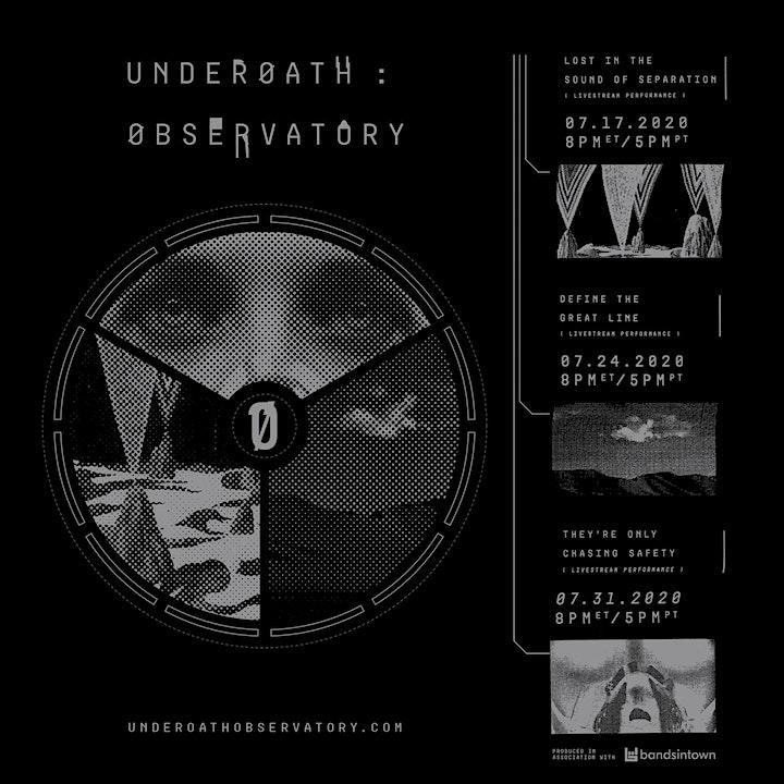 UNDEROATH : OBSERVATORY - LIVE STREAM PERFORMANCE image