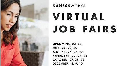 KansasWorks Virtual Statewide Job Fair (8/25 -8/27)  Employer Registration tickets