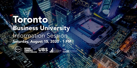 Toronto Business University Information Session tickets