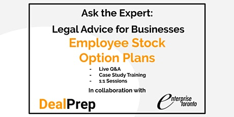 Ask the Expert: Legal Advice for Businesses - Employee Stock Option Plans tickets