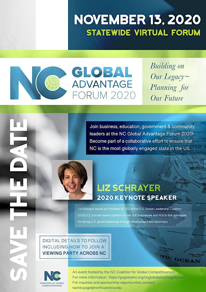 NC Global Advantage Forum : Building on Our Legacy, Planning for Our Future image