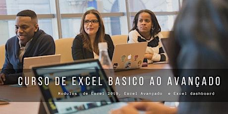 Curso de Excel Basico ao Avançado  Ead ou Presencial ingressos