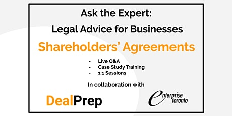 Ask the Expert: Legal Advice for Businesses - Shareholders' Agreements tickets