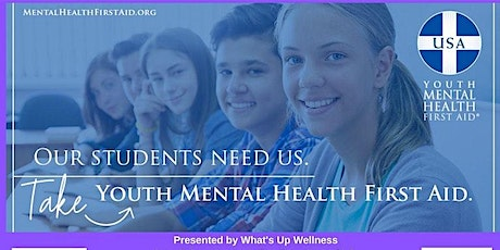 Youth Mental Health First Aid - August 17, 2020 tickets