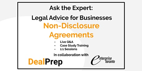 Ask the Expert: Legal Advice for Businesses - Non-Disclosure Agreements tickets