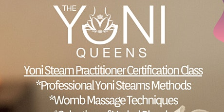 Yoni Steam Practitioner Certification tickets