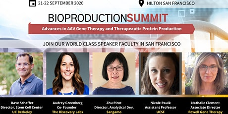 Bioproduction Summit 2020, Virtual Event, Advances in AAV Gene Therapy tickets