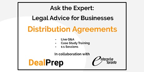 Ask the Expert: Legal Advice for Businesses - Distribution Agreements tickets