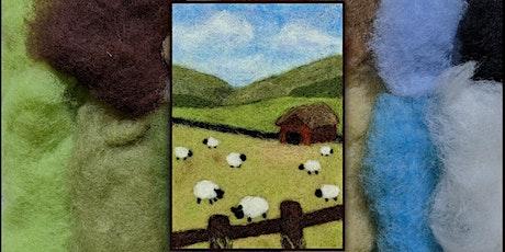 Needle Felt Wool Painting Summer Scene - Aug 18 tickets