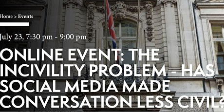 ESU online event: THE INCIVILITY PROBLEM tickets