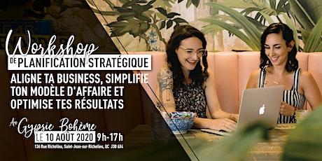 WORKSHOP de planification stratégique billets