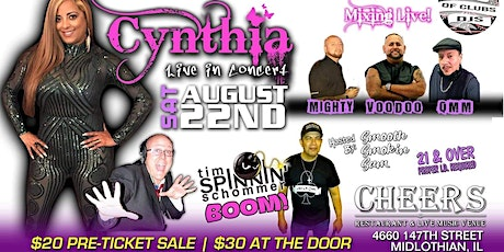 CYNTHIA Live In Concert August 22nd With Tim Spinnin Schommer tickets