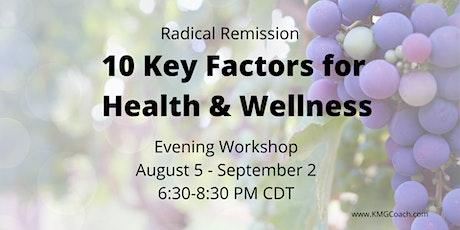 Radical Remission 5-week  ONLINE Workshop tickets