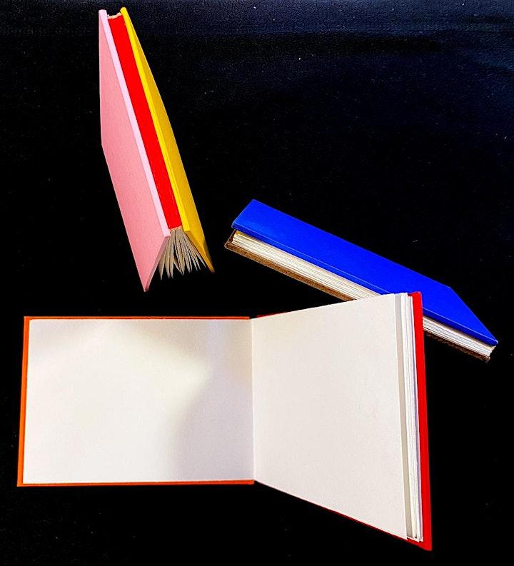 'The Drum Leaf Binding' An Online Zoom Bookbinding Workshop @ Begbiebook image