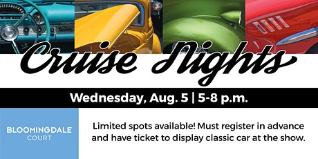 August Daily Herald Cruise Night at Bloomingdale Court tickets