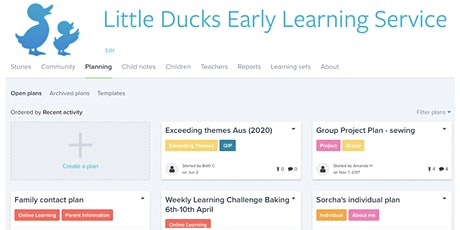 Looking Pedagogically at Planning using Storypark: Part 1 Cycle of Planning tickets
