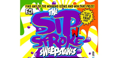 Sip 'N Stroke | Sweepstakes Edition | Sip and Paint Party  (5pm - 8pm) tickets