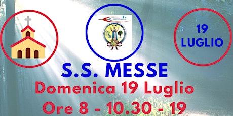 S.S. Messe DOMENICA 19 Luglio biglietti