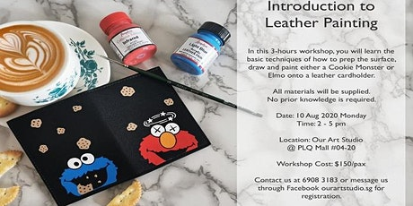 Leather Painting Workshop - Paint an Elmo or Cookie Monster on a Cardholder tickets