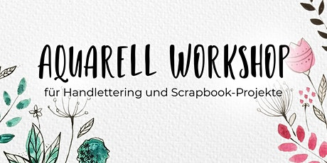 Aquarellkurs für Handlettering & Bullet Journal Tickets