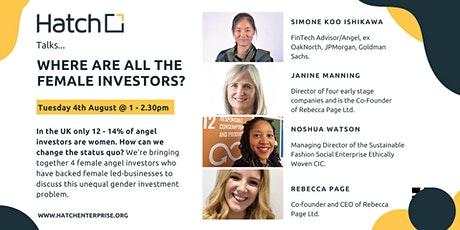 Hatch Talks: Where Are All The Female Investors? tickets