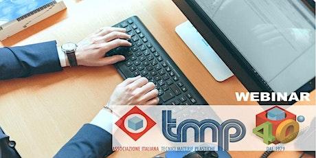 TECH WEBINAR  Introduzione all'assemblaggio di manufatti in termoplastico biglietti