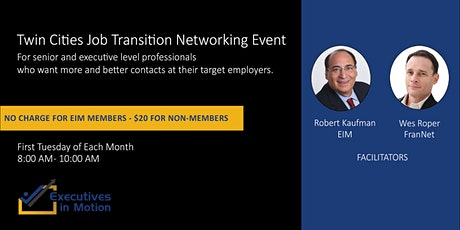 Executives In Motion (MN) - Virtual Networking Event tickets