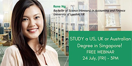 Affordable Prestigious degrees in Singapore! tickets