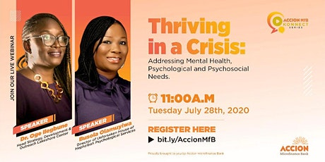 Accion MfB Konnect Series: Mental Health Webinar (Thriving in a Crisis) tickets