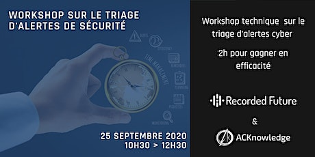 Workshop technique sur le triage d'alertes billets