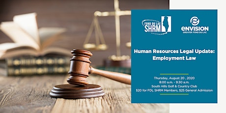 Human Resources  Legal Updates - Employment Law tickets