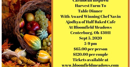 Caribbean Inspired Harvest Farm to Table Dinner with Chef Navin Ajodhya tickets