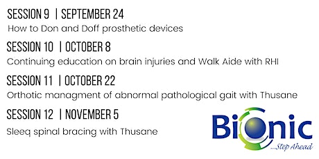 How to Don and Doff Prosthetic Devices tickets