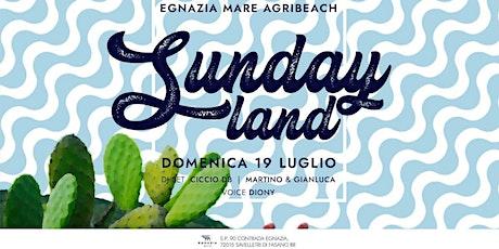 DOMENICA 19 LUGLIO ~ SUNDAYLAND ~ @ EGNAZIA MARE AGRI BEACH. biglietti