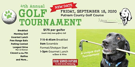 Putnam Service Dogs 4th Annual Charity Golf Tournament tickets