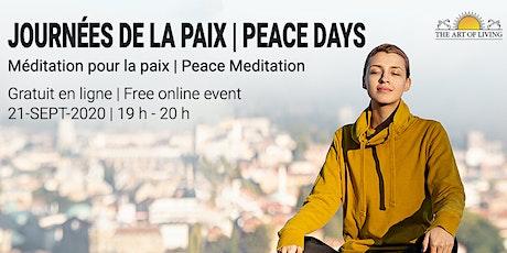Méditation pour la paix / Peace meditation tickets