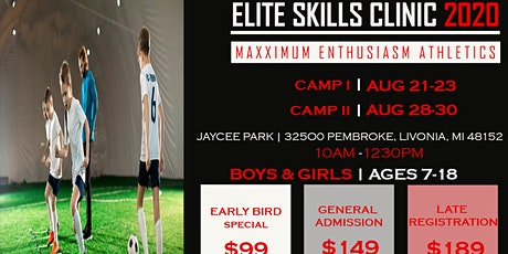 MAXX E Elite soccer skills training clinic tickets