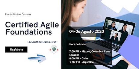 Curso Online - Certified Agile Foundations (LAI-AF) - 04 y 06 de Agosto entradas