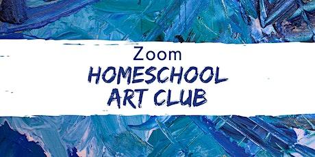 Zoom Homeschool Art Club- September 2020 tickets