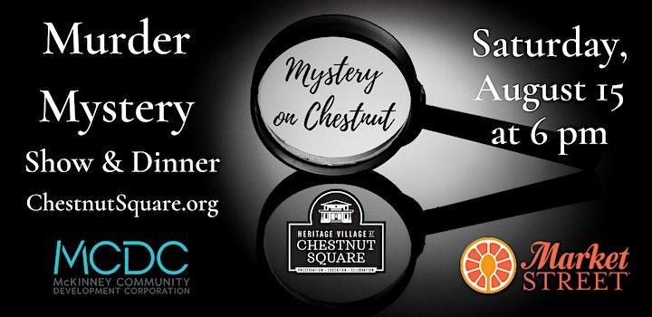 Murder on Chestnut; A Murder Mystery Dinner image