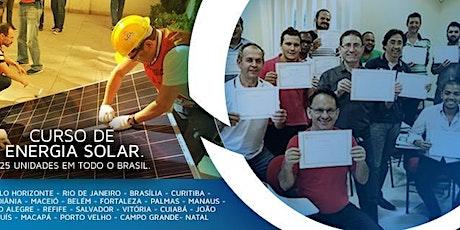 Curso Online Ao Vivo de Energia Solar nos dias 12 e 13 de Setembro/2020 ingressos