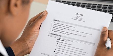 JobTrain Workshop - Resume Review tickets