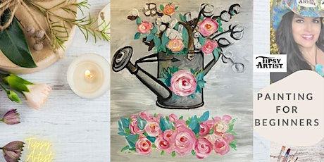 How to Paint a Watering Can with Cotton & Roses tickets