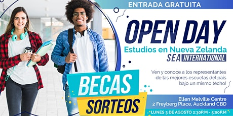 Open Day Estudios en Nueva Zelanda by SEA International tickets