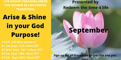 Arise & Shine in your God purpose (September 2020) tickets