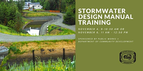 Kitsap County Stormwater Design Manual (SDM) Training tickets