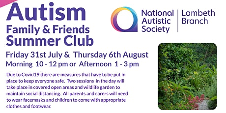 Autism Family and Friends Social Club, During Covid tickets