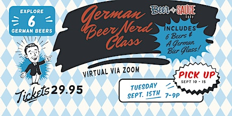 German BeerNerd Class - Virtual tickets