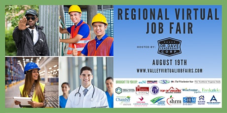 REGIONAL Virtual Job Fair - Northern Shenandoah Valley (Job Seekers) tickets